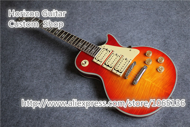 Good Cheap Price Ace Frehley Signature Budokan Electric Guitar Flame Cherry Sunburst CS China Guitars Factory(China (Mainland))