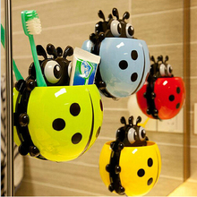 Cute ladybug toothbrush holder toothpaste holder novelty households sucker Sheif home supplies(China (Mainland))