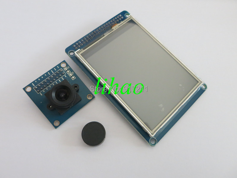 """Free Shipping 3.2"""" TFT 3.2 inch LCD Disp Touch Panel PCB Adapter + CMOS Camera Module OV7670 SCCB(China (Mainland))"""