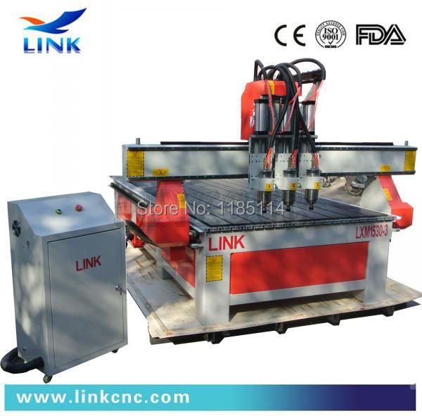 optional vacuum table Link 1530 three head cnc router(China (Mainland))