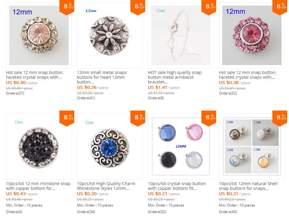 115 snap button jewelry