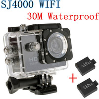 Hot sale sj4000 Pro Full hd NewStyle 1080p wifi built-in battery waterproof sports sj4000 Diving Bicycle action camera