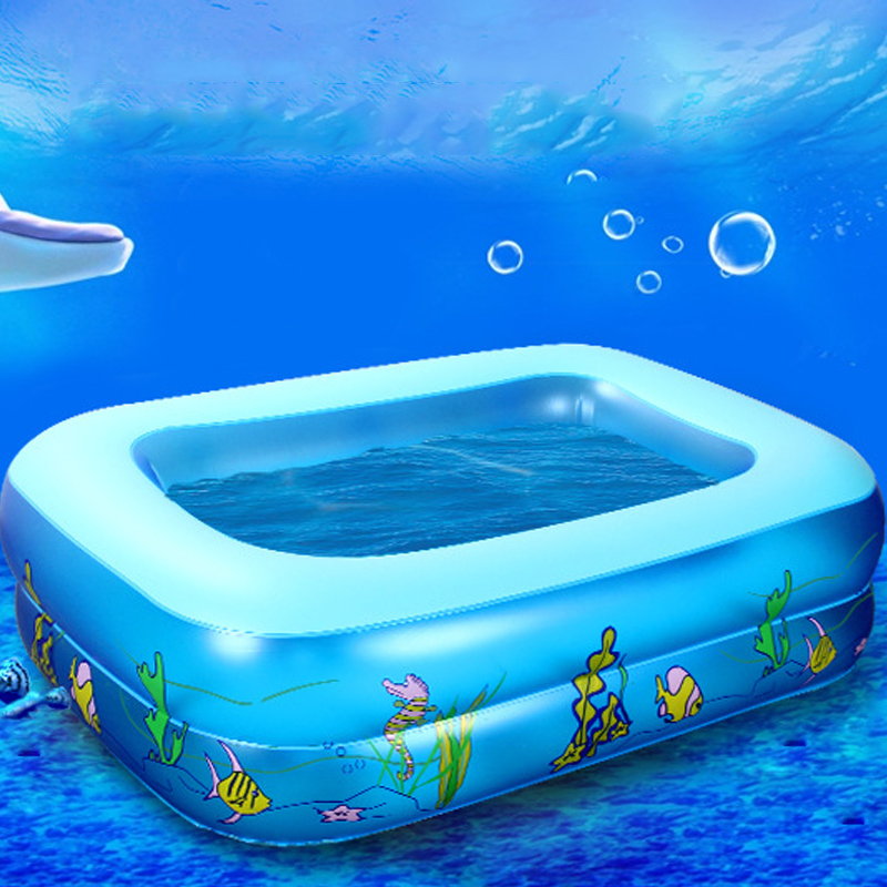 Kid Baby's Cartoon Underwater World Pattern Printed Inflatable Aerated Square Newborn's Swimming Pool piscina dropshipping hot(China (Mainland))