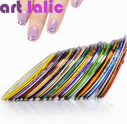 1Striping Tape Line Nail Art Sticker Decoration DIY Decals UV Gel Acrylic Tips - timtimng store