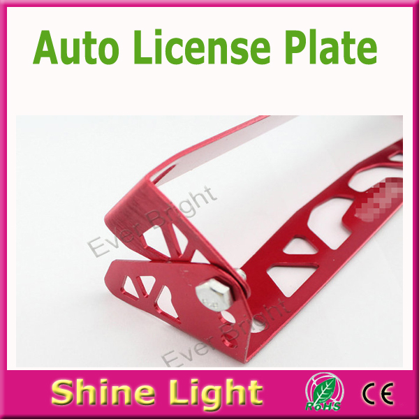 High quality!!! 20pcs/lot car universal aluminum adjustable rotating number plate auto License plate frame license plate holder<br><br>Aliexpress