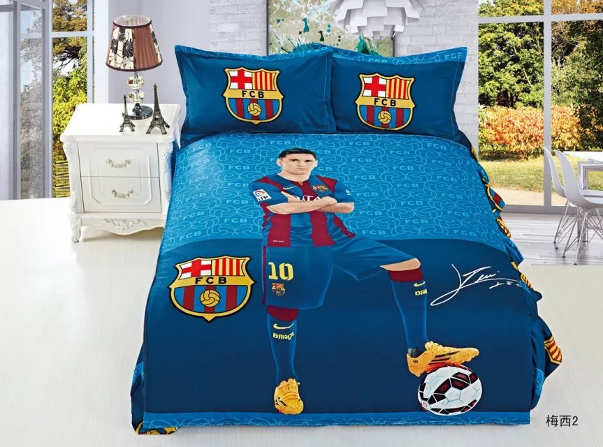 Achetez en gros football enfants literie en ligne des for Housse de couette patchwork