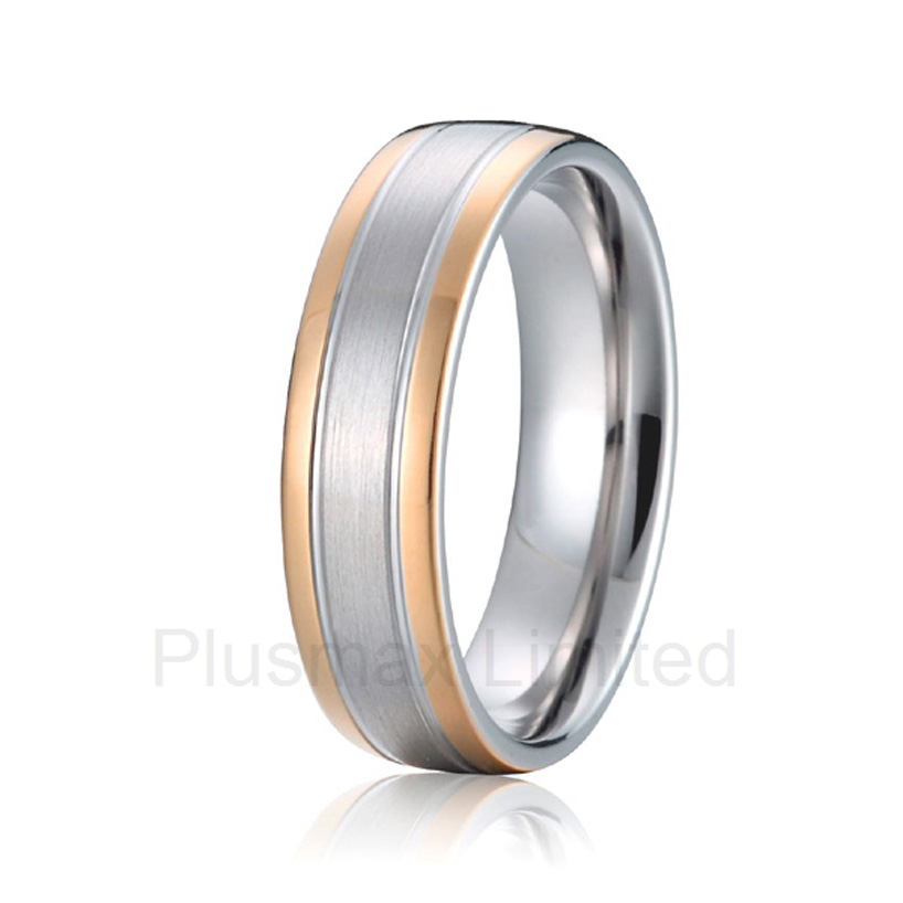 Best China jewelry factory plain simple fashion finger ring cheap pure titani