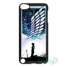 Fit for iPhone 4 4s 5 5s 5c se 6 6s 7 plus ipod touch 4/5/6 back skins cellphone case cover Wings of Freedom Shingeki No Kyojin