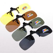 Alta calidad polarizado Clip On Gafas De Sol Sport Night Driving Vision lentes Gafas De Sol Anti UVA mujeres hombres Oculos Gafas De Sol