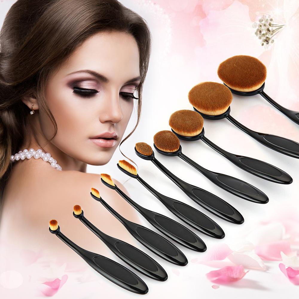 10PC/Set Professional Makeup Brush Kits Shaped Eyebrow Foundation Power Face Lip Eyeliner Brushes Sets Makeup Beauty Tools Sets(China (Mainland))
