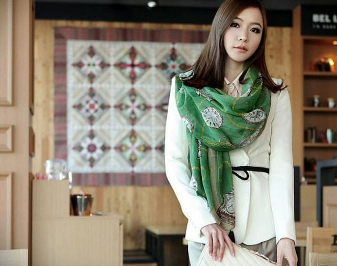 Womens Ladies Fashion Stylish Chiffon Soft Scarves Long Wraps Shawl Winter Scarf(China (Mainland))