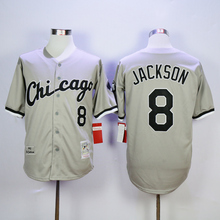 Men's 2016 Chicagos color White Jersey #8 Bo Jackson Jersey cool Baseball Jersey 100% Embroidery,Mix Orders(China (Mainland))