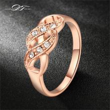 Buy Double Fair Cubic Zirconia Infinity Rings Rose Gold Color Fashion Spacial Wedding/Engagement Ring Jewelry Women Gift DFR334 for $1.94 in AliExpress store