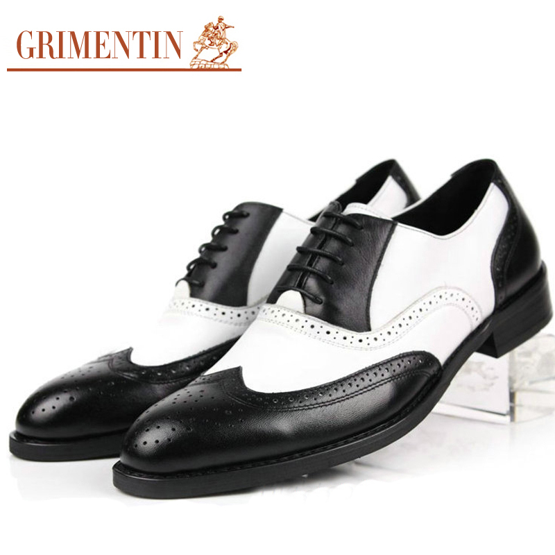 mens black and white wingtip shoes reviews