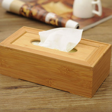Rustic bamboo tissue box cover wood drawer Quality flip type home decoration vintage Creative napkin holder for paper towels(China (Mainland))