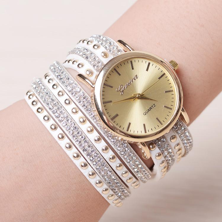 New Popular Diamond Jewelry Quartz Watch Women Dress Watches Relogio Feminino Fashion Ladies Geneva Bracelet Watch