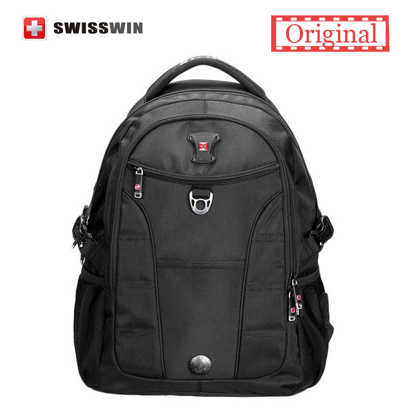 Swisswin Fashion Business Laptop Backpack Multi-Compartment Mens Backpack Computer Bagpack for Teenage students Black Red<br><br>Aliexpress