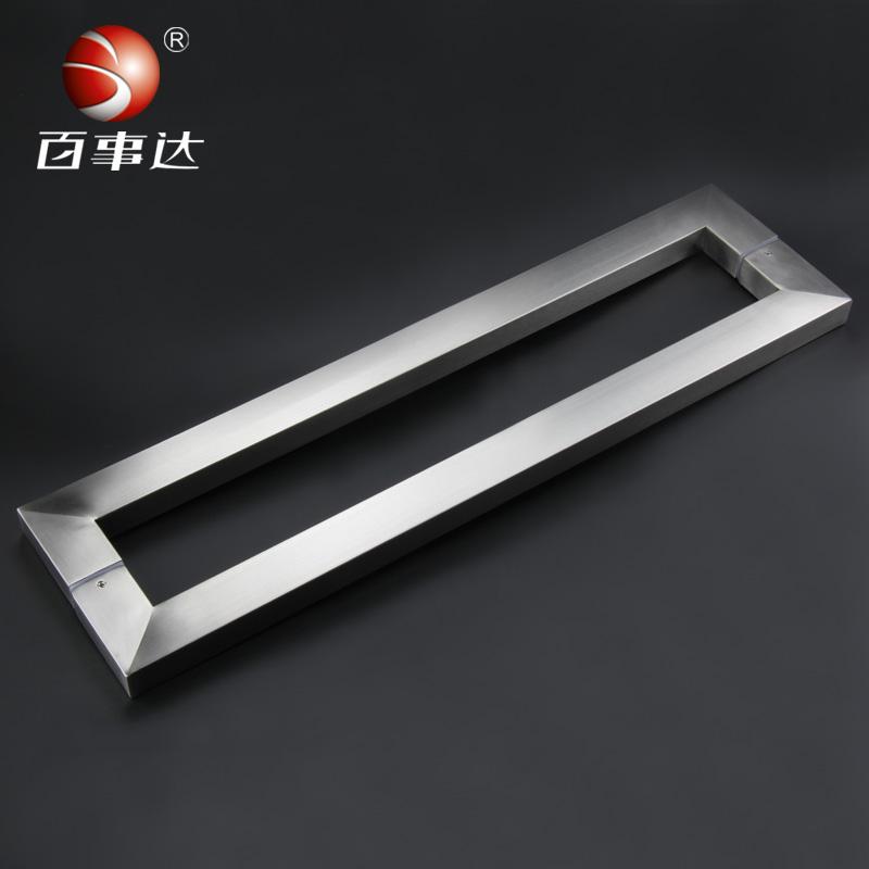 Blockbuster di vetro in acciaio inox maniglia porta del - Porte in vetro per bagno ...