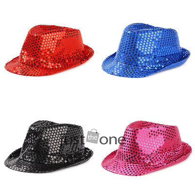Fashion Cool Kids Boys Girls Glitter Sequins Canvas Jazz Hats Show Party Caps 56(China (Mainland))