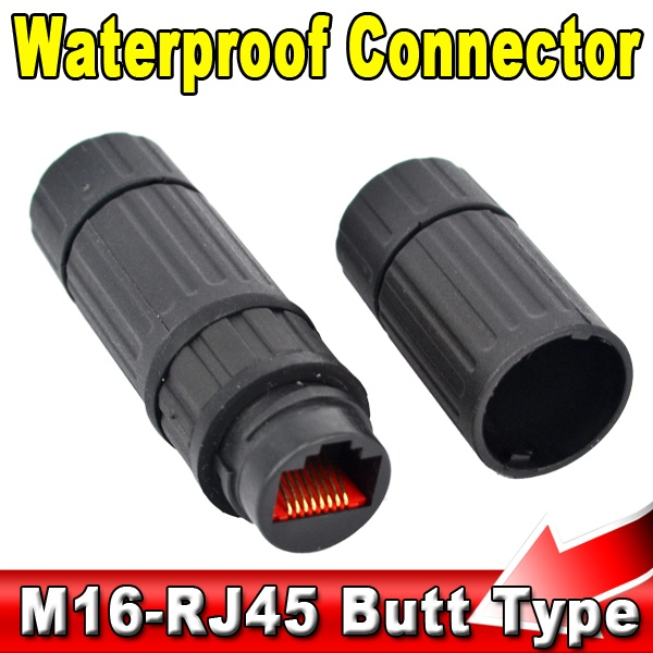 Durable Ethernet Network LAN Cable RJ45 Waterproof Connector Adapter Plug Socket Female to Female , IP68 , Butt Type(China (Mainland))