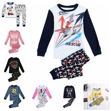 Buy 2016 Children's Pyjamas Sets Kids Baby Boys Planes T-shirt Top+Pant 2pcs Pajamas Set Autumn Boys Sleepwear Outfit Clothes for $7.40 in AliExpress store