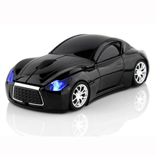 New Fashion Infiniti Sports Car 2.4GHz Wireless Mouse 1000DPI Optical Gaming Mouse Mice for Computer PC free shipping
