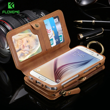 Buy FLOVEME Business Wallet Phone Cases Samsung Galaxy S6 / Edge Plus 18 Card Slots Metal Zipper Case Samsung S7 Note 5 4 3 for $11.89 in AliExpress store