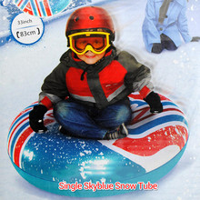 2 Colors Inflatable Sled & Snow Tubes for Kids Skiing Thickened Size Circle Snow Water Ski Sledge Tube 2015 Winter Outdoor Sport(China (Mainland))