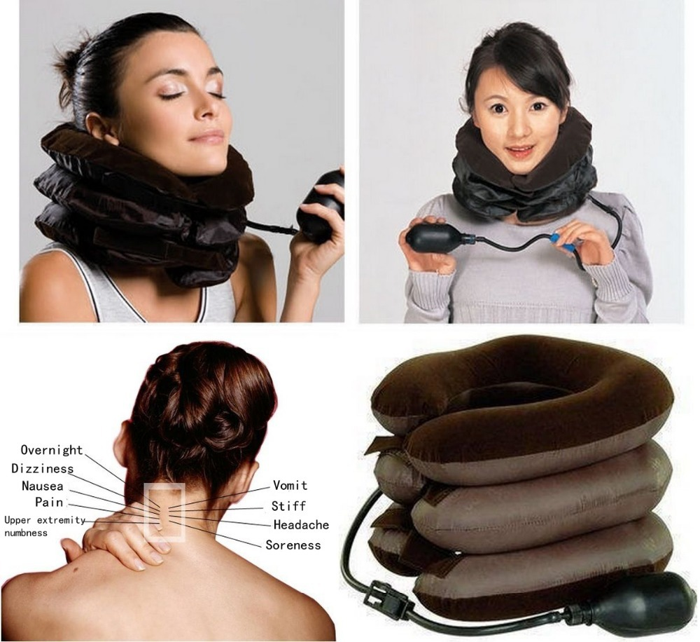 Relax Support Pillow Cervical Neck Traction for Headache Head Back Shoulder Pain Relieve(China (Mainland))