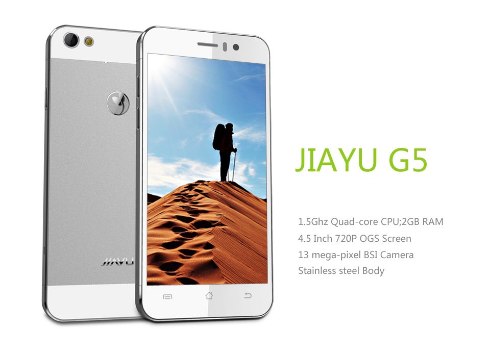 "Jiayu G5 G5S Mobile Phone 4.5"" Gorilla Glass MTK6592 Octa Core 2GB RAM 16GB ROM 3mp 13mp Metal Body GPS OTG Cell phone(China (Mainland))"