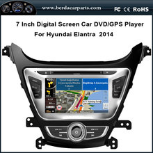 Car DVD Player For Hyundai Elantra 2014 With GPS Navigation Stereo Radio Bluetooth Free Map (TV option)