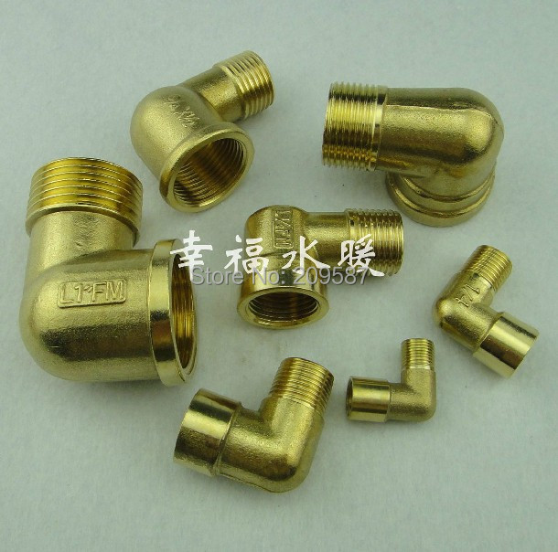 Pcs ways quot bsp male to female thread elbow brass