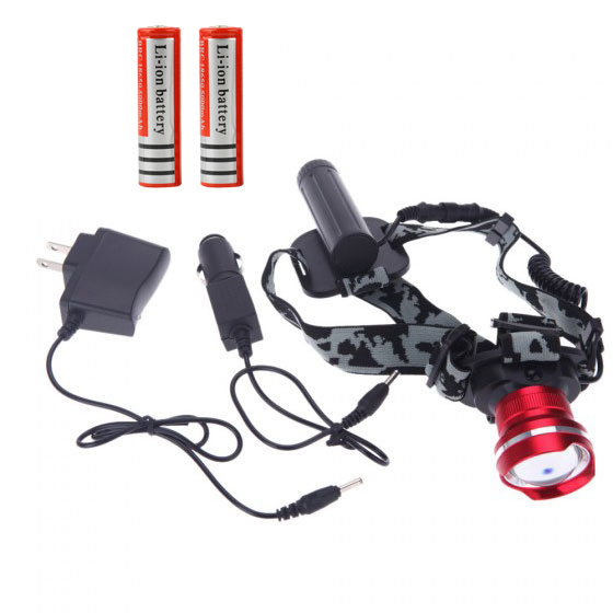 2300LM CREE XML T6 LED Headlight Headlamp Zoomable Head Lamp Flash Light For Bicycle Camping Hiking+2*18650 Battery+Charger<br><br>Aliexpress