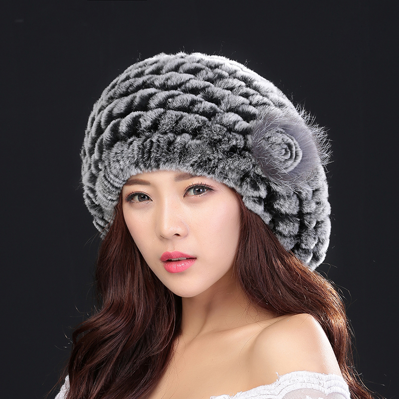 2017 Top fashion excellent genuine rabbit fur hat Women winter cap best gift for lover , friend(China (Mainland))