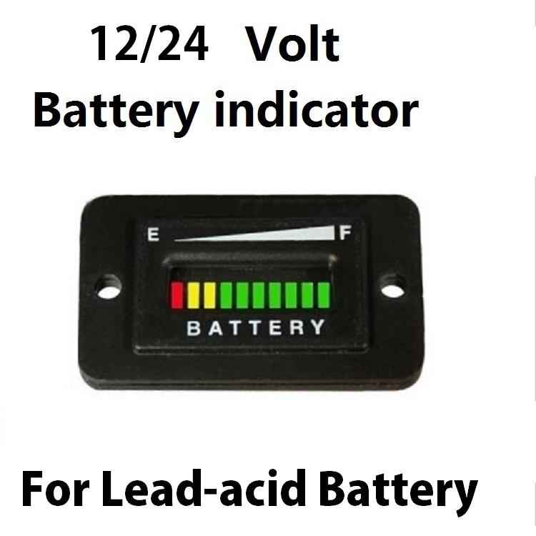 Marine Battery Meter : V volt marine trolling motor battery indicator charge