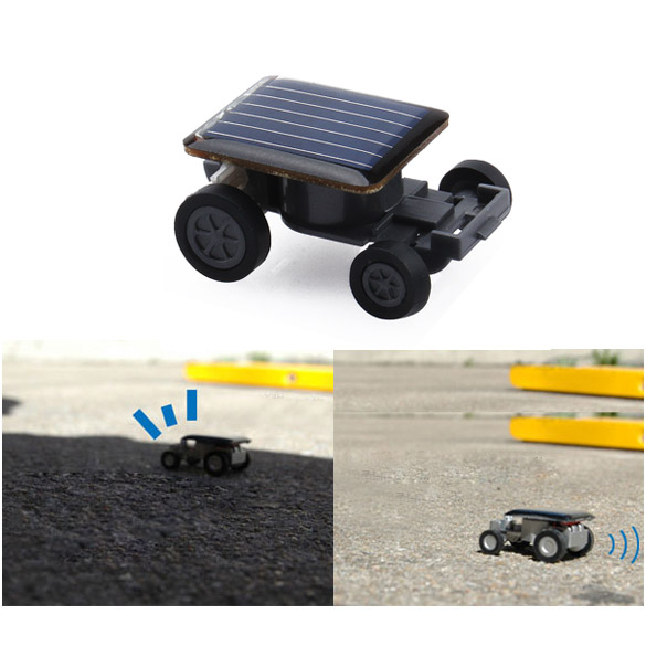 High Quality Smallest Mini Car Solar Power Toy Car Racer Educational Gadget Children Kid's Toys Free Shipping(China (Mainland))