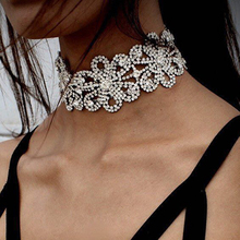 Miwens 2016 Hot Collar Choker Necklace Boho Fashion Trend Crystal Beads Flower Statement Necklace Jewelry For Women 7122