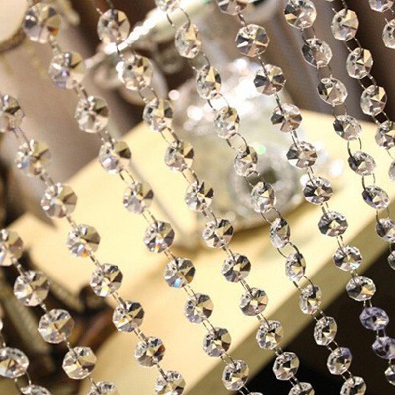 Crystal strands wedding