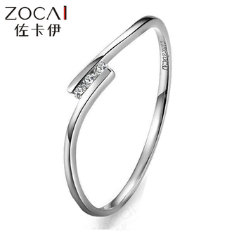 ZOCAI BRAND LOVE NATURAL REAL PD950 0.03 CT CERTIFIED H / SI DIAMOND WEDDING BAND RING ROUND CUT JEWELRY 9K ROSE GOLD AVAILABLE