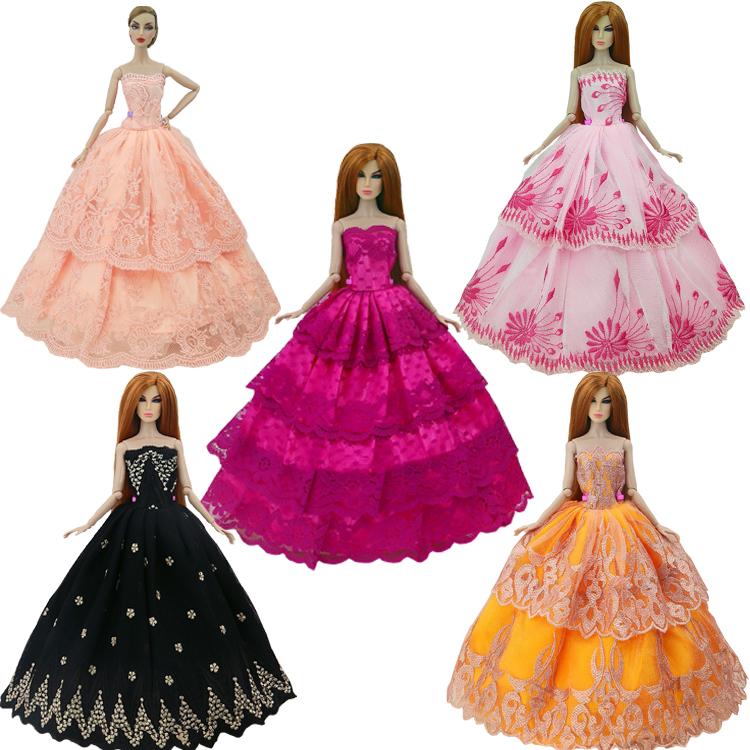 Buy 2016 new handmake wedding dress for Barbie wedding dresses for sale