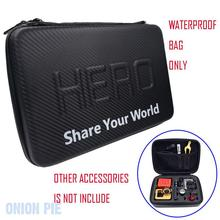 Waterproof Storge Bag Special Accommodation Package for Gopro Hero4 3+ sj4000 sj5000 sj6000 xiaomi yi action camera accessories