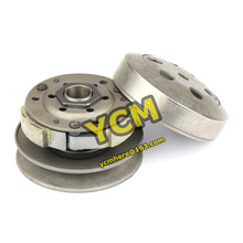 GY6 50 80cc 100 Clutch Pulley Assy Driven Wheel Pulley Clutch Assembly After Pulley Scooter Engine parts Mope Wholesale YCM