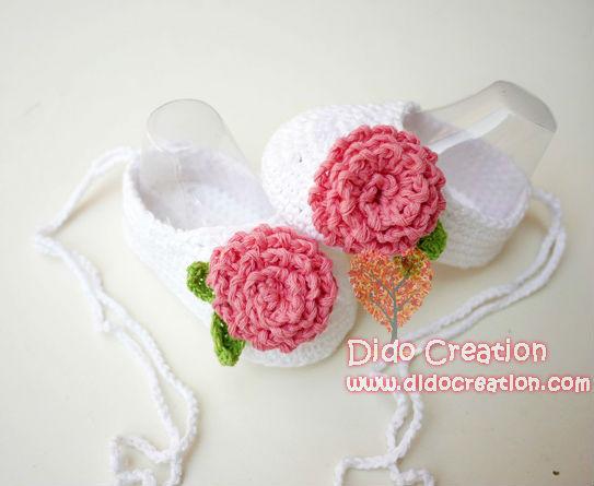 1 пара симпатичные рук младенца вязания крючком детская обувь кроватки с цветами ...