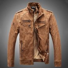 Winter Jackets Men Leather Jacket Men's Coats Thickening Wool Windbreak Waterproof Warm Skin Lamb Fur Trench Coat Plus Size XXXL()