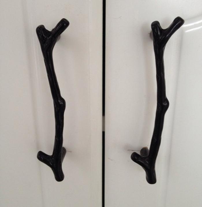 2PCS 96mm Retro Black twig cupboard door handle, kitchen cabinets pulls, Tree branch drawer Dresser pulls closet knobs(China (Mainland))