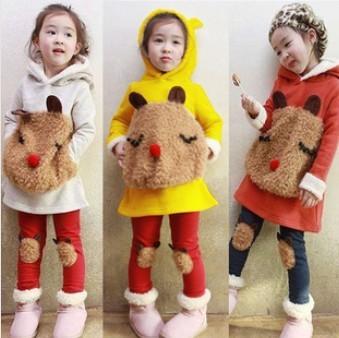 Soft Bear 2015 Children Girl Hoodies Warm Comfortable Fashion Kids hoodies Sweatshirt Girl`s Carton Hood Autumn Sweater