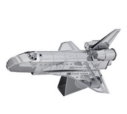 Space Shuttle 3D Metal Model Miniature Sculpture Jigsaw Puzzle Desk Ornament DIY Beautiful Gift Kid Adult - M&T Technology Co. Ltd store