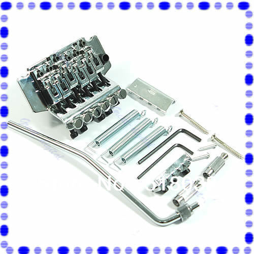 B39Silver Floyd Rose Lic Tremolo Bridge Double Locking System New Drop Shipping(China (Mainland))