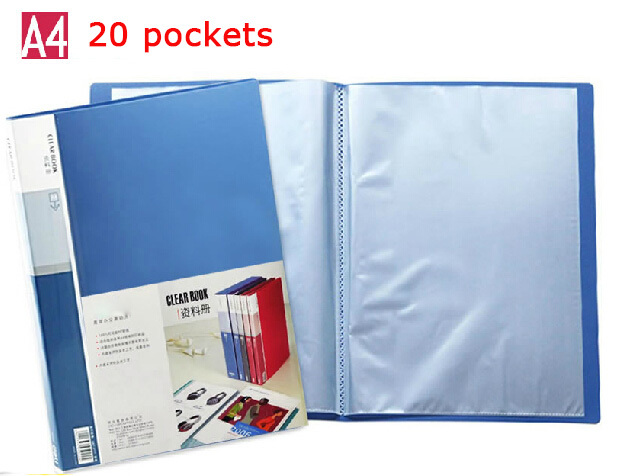a4 plastic document folders, PP meeting presentation folder, conference report holder, waterproof file cover,-20 clear pockets(China (Mainland))