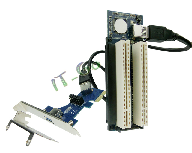 PCIe To PCI Dual Slot Adapter Card PCI-Express